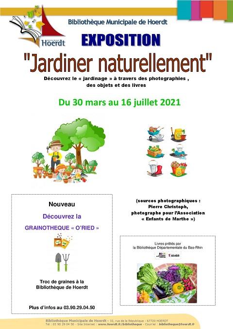 affiche expo jardinage
