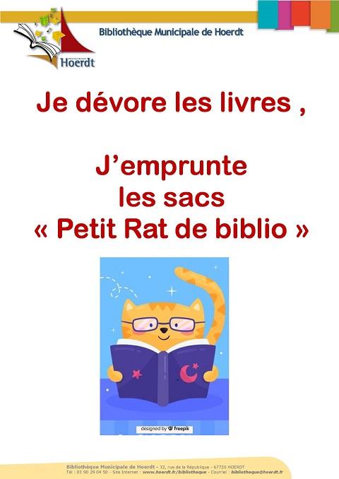 affiche petit rat de biblio