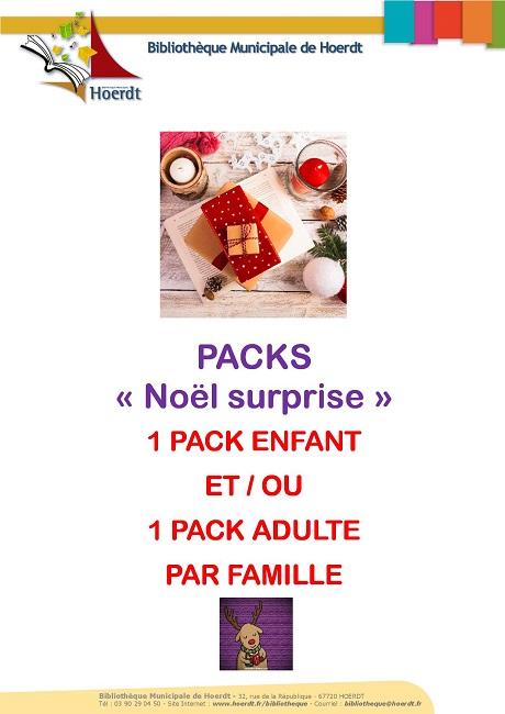 affiche packs surprise Noël